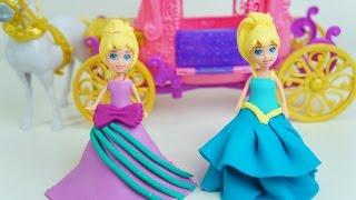 Polly Pocket Vai ao Baile da Frozen com Vestido de Massinha Play Doh! Em Português KidsToys Brasil