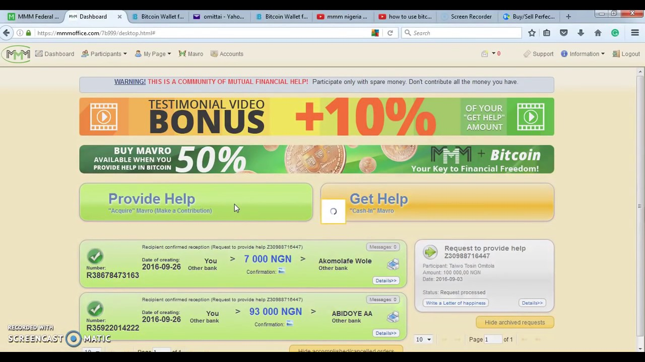 Learn how to add bitcoin account to your mmm nigeria provide help learn how to add bitcoin account to your mmm nigeria provide help and get ccuart Images