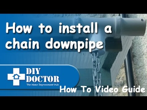 How To Install A Rain Chain Gutter Downpipe Youtube