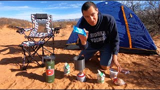 SOLO Camping In tнe DESERT | Red Sands | AWESOME Sunset