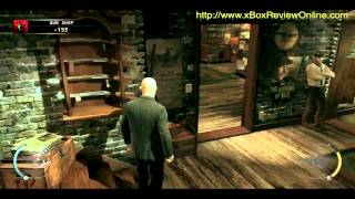 Hitman Absolution Part 15.2 - Gun Shop walkthrough game play xBox 360