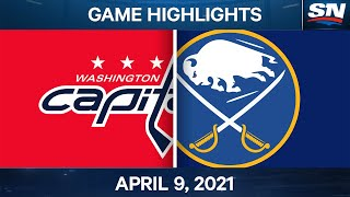 NHL Game Highlights | Capitals vs. Sabres - Apr. 9, 2021