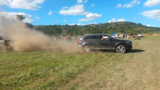 TUG OF WAR! Audi Q7 vs Toyota Hilux(Venter Trailer) 2