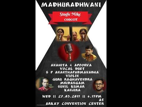Madhuradhwani -Anahita and Apoorva Vocal Duet