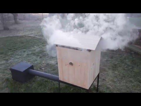 Wędzarnia ogrodowa drewniana | Wooden garden smokehouse | Hölzerne Garten Räucherei