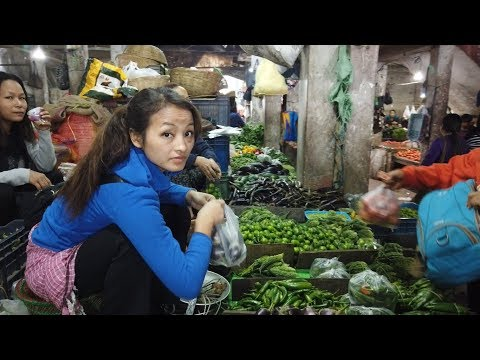 Aizawl's Woman Only Market   Mizoram vlog