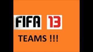FIFA 13 DEMO TEAMS