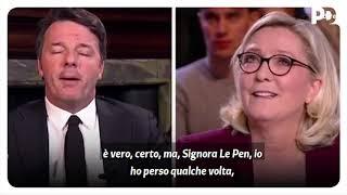 Matteo Renzi e Marine Le Pen si confrontano su France 2