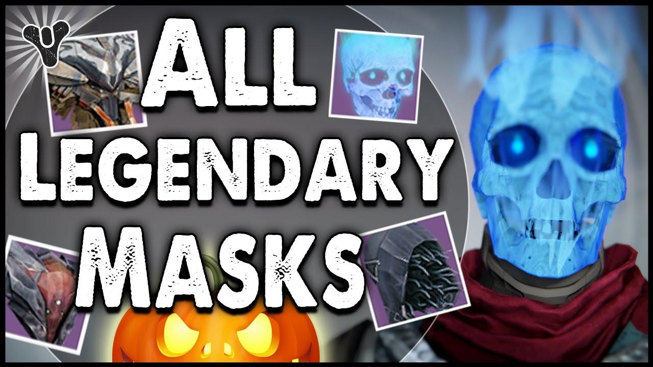 Destiny: Every Legendary Halloween Mask Preview!   Halloween Event ...