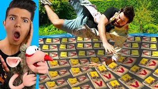 Man VS 1,000 MOUSETRAPS (Slow Motion EXPERIMENTS)