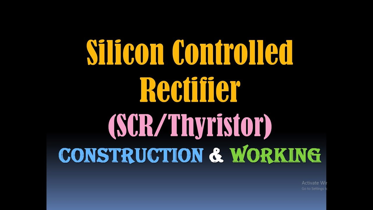 Silicon Controlled Rectifier Scr Thyristor Construction Falstadcom Has A Great Online Circuit Simulator It Runs In Java But And Working Power Electronics