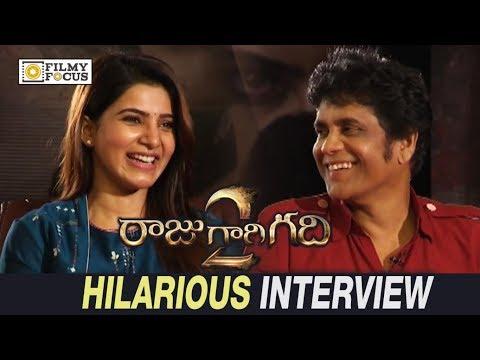 Samantha and Nagarjuna Hilarious Interview about raju Gari Gadhi 2 Movie - Filmyfocus.com
