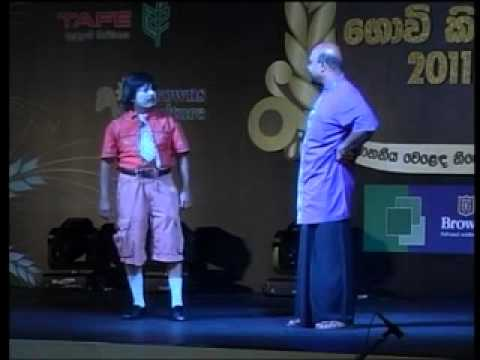 giriraj with priyantha comedy act part 02