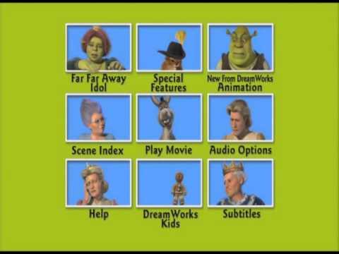 Shrek 2 Dvd Menu With Donkey Youtube