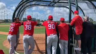 Cardinals video: Kim throws first Cardinals live BP