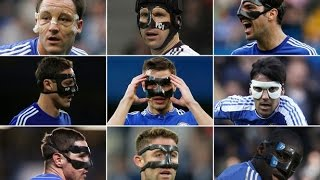 11 Chelsea players with Zorro Mask 2016 HD