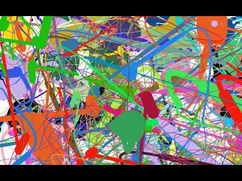 How to make an Abstract Action Splatter Painting