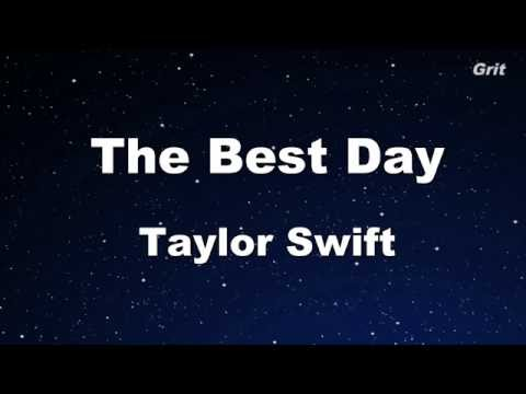 The Best Day - Taylor Swift Karaoke【No Guide Melody】