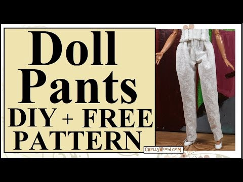 image relating to Barbie Doll Clothes Patterns Free Printable named Free of charge Doll Garments Styles: Curvy Barbie and Tammy Doll Trousers