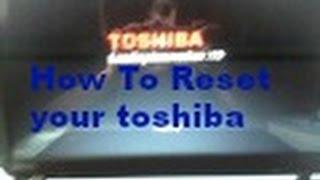 How To Reset A Toshiba Laptop Windows 10 2015!