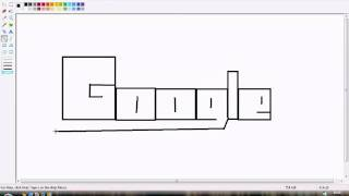 mspaint-how to draw the google logo in mspaint!