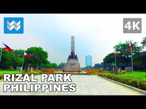 Walking tour of Rizal Park in Manila, Philippines 【4K】 🇵🇭