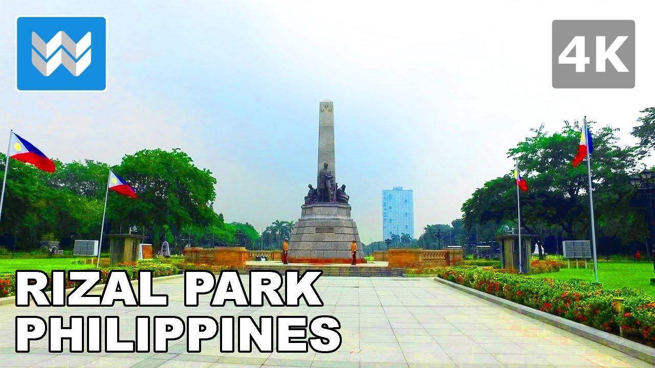 walking tour of rizal park luneta in manila