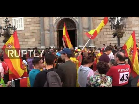 LIVE: Anti-independence rally continues in Barcelona