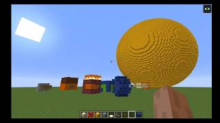 Solar System Size Comparison in Minecraft