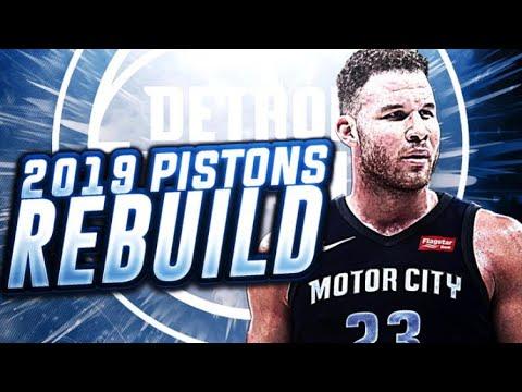 SUPRISING?? 2019 DETROIT PISTONS REBUILD! NBA 2K18