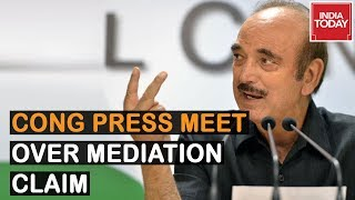 Congress Holds Press Conference On Trumps Mediation Claim Ghulam Nabi Azad Heads Meet