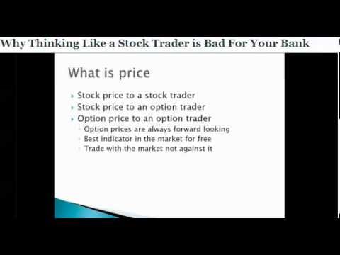 Think Like an Option Trader Webinar with Michael Benklifa