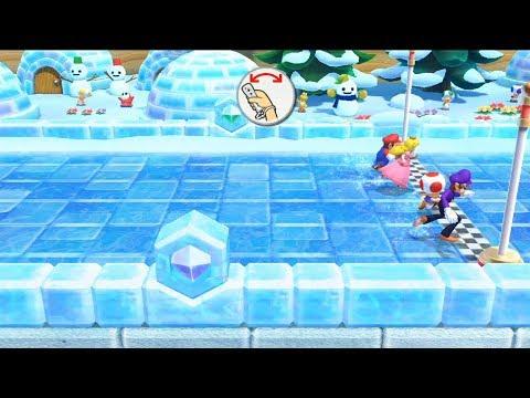 Mario Party 10 - Coin Challenge (2 Player - Who is win?) Peach vs Mario vs Toad vs Waluigi #39