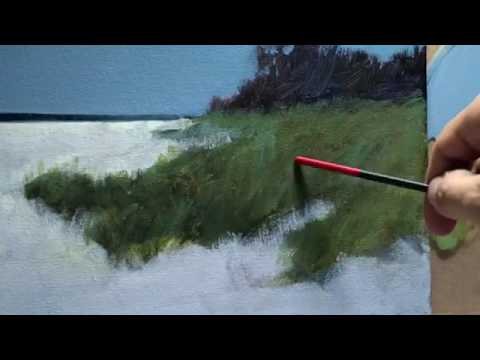 My Process For Painting A Seascape In Acrylics | Tutorial
