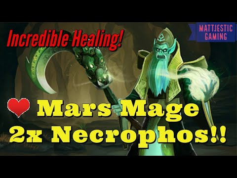 DOUBLE Necrophos Mars Mage! Dota Auto Chess Gods Mage Warlock Fun Build Replay, Best Epic Gods Build
