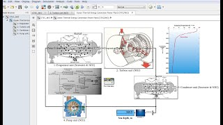 Ocean Thermal Energy Conversion | Ammonia NH3 Power Plant | Matlab | Simulink Model