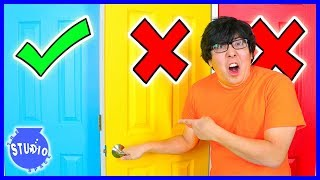 Don't Choose the Wrong Door Challenge!! Ryan's Mommy Vs. Ryan's Daddy!