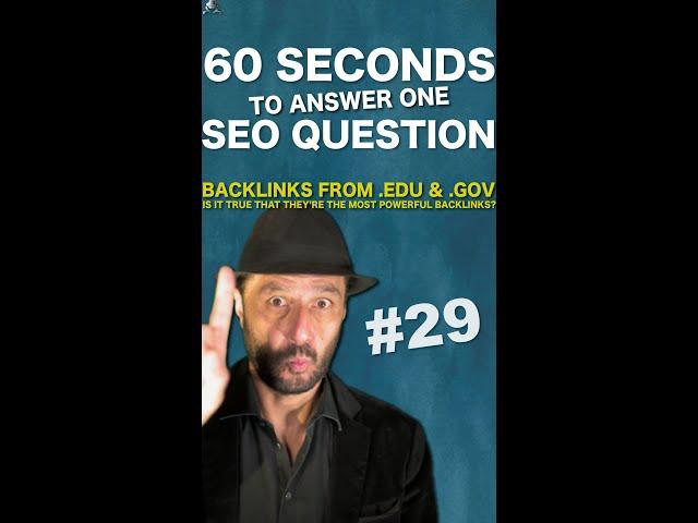 Are .Edu and .Gov Backlinks Better For SEO on Google? - SEO Conspiracy QA #Shorts