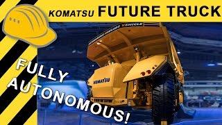 KOMATSU Autonomous Mining Truck Prototype Walkaround MINExpo 2016 - Bauforum24 4K