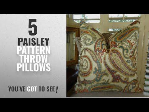 Top 10 Paisley Pattern Throw Pillows [2018]: Thomas Collection Luxury Decorative Throw Pillow,