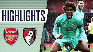 GOALS & HIGHLIGHTS | Arsenal 2 - 1 Bournemouth