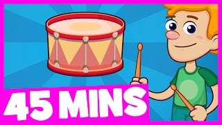 Can You Play the Drums Song and More | 45mins Song Collection for Kids