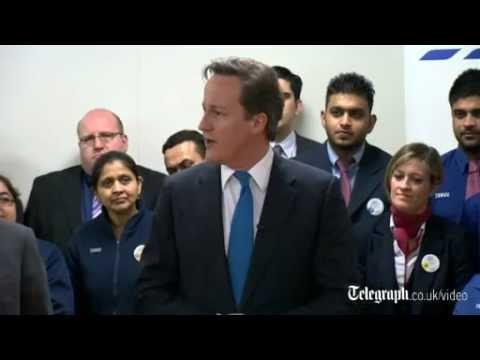 David Cameron congratulates Tesco on massive job creation plans