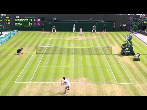 2015 Day 7 Highlights, Maria Sharapova vs Zarina Diyas
