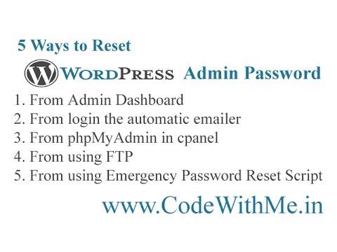 5 Ways to Reset WordPress Admin Password