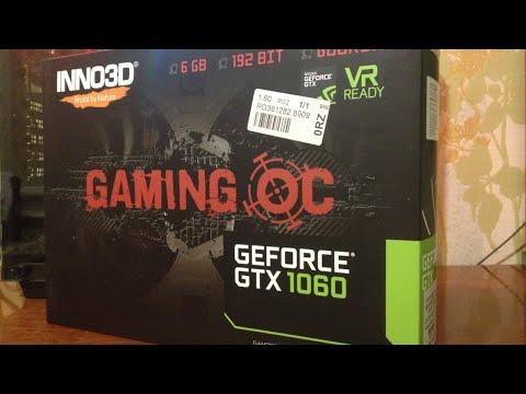 INNO3D PCI-Ex GeForce GTX 1060 Gaming OC 6GB GDDR5X (192bit) (1531/10000) (2 x DVI-D, HDMI, DisplayPort) (N106F-CSDN-N6GSX)