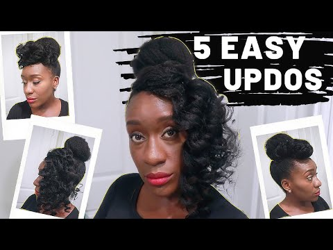 How To Style 4c Hair   5 Protective Natural Hairstyles in Under 10 Mins