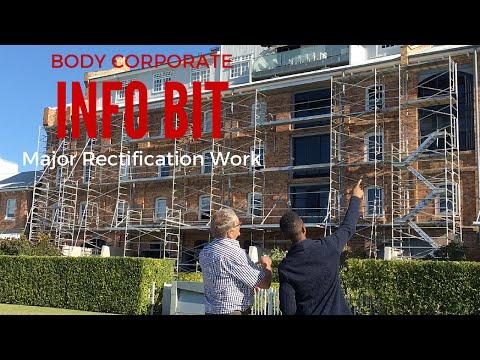 Body Corporate Major Rectification Work - Info Bit