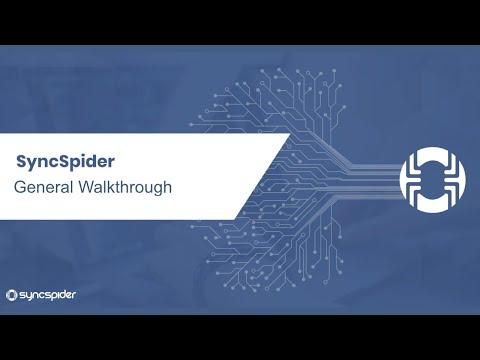 SyncSpider General Walkthrough