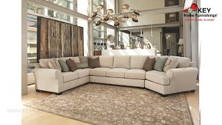 Ashley Wilcot 4 Piece Sectional With Cuddler (apk 28701cr4)   Key Home